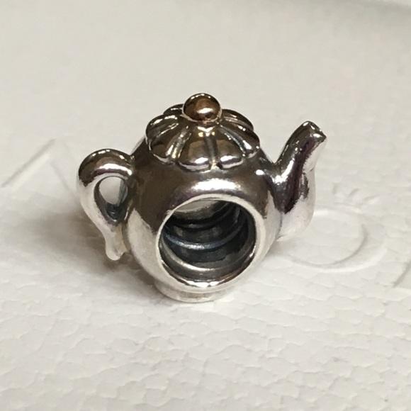 7a8445ff8 Pandora Tea Pot Two-Toned Charm. M_5b413aeb1b32943230987acd